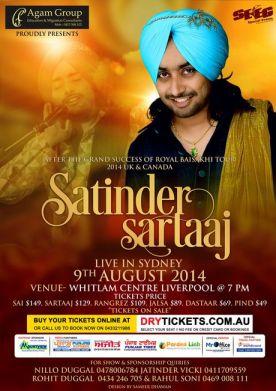Satinder Sartaaj Live in Sydney 2014