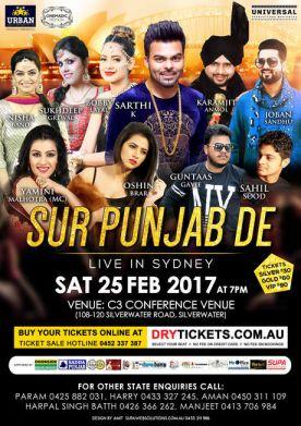 Sur Punjab De Live In Sydney 2017