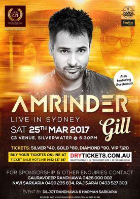 Amrinder Gill Live In Sydney 2017
