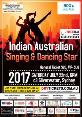 Indian Australian Singing & Dancing Star 2017 In Sydney