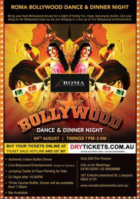 Roma Bollywood Dance & Dinner Night