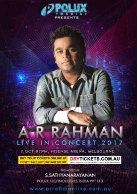 A R Rahman Live In Concert Melbourne 2017