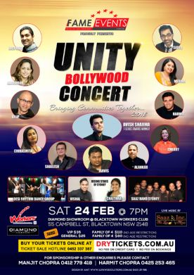 Unity Bollywood Concert 2018