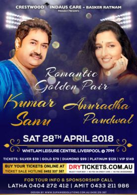 Kumar Sanu & Anuradha Paudwal Live in Sydney Concert 2018