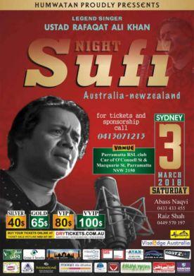 Sufi Night - Ustad Rafaqat Ali Khan Live In Sydney 2018