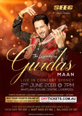 The Legendary Gurdas Maan Live In Concert Sydney 2018
