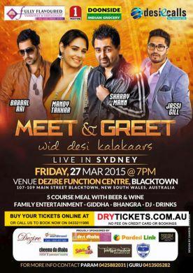 Meet & Greet wid Desi Kalakaars