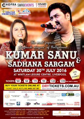 Kumar Sanu & Sadhana Sargam Sydney
