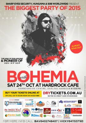 Bohemia Live In Sydney