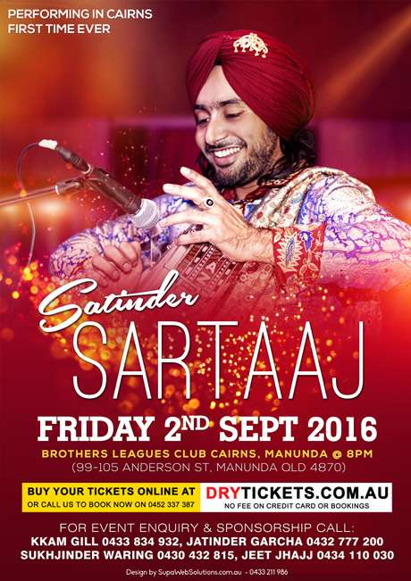 Satinder Sartaaj Live In Cairns 2016 - DryTickets com au