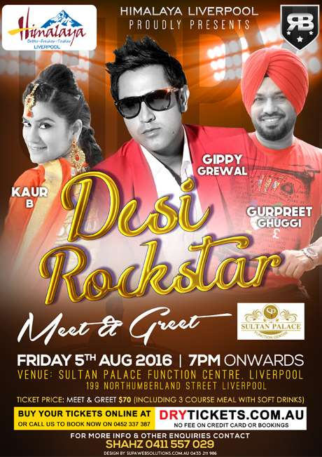 Meet greet desi rockstar live in sydney drytickets meet greet desi rockstar live in sydney organised by himalaya liverpool m4hsunfo