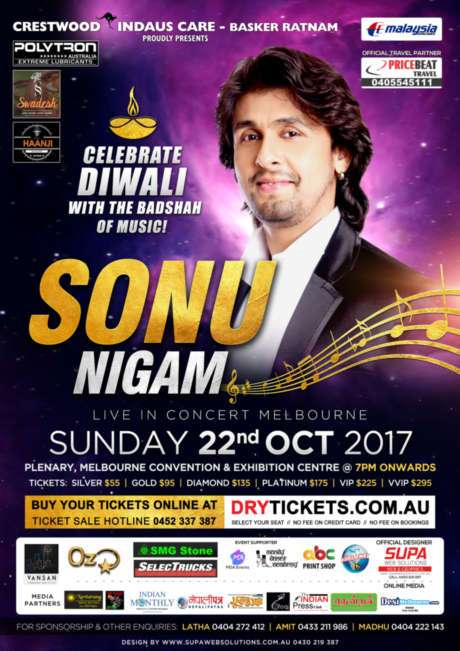 Sonu Nigam Live In Melbourne 2017