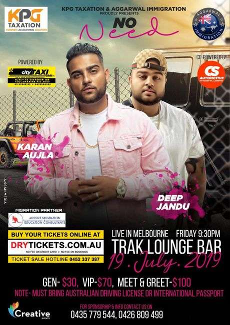 No Need - Karan Aujla & Deep Jandu Live In Melbourne 2019