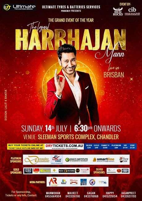 The Legend Harbhajan Mann Live In Concert Brisbane 2019