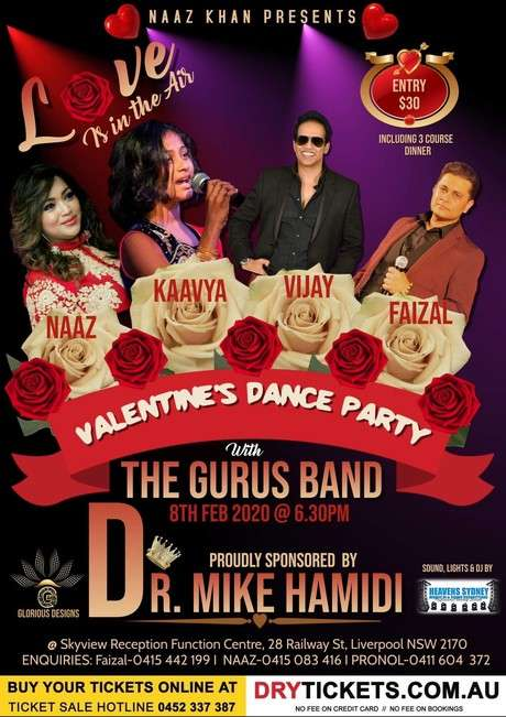 Valentine's Dance Party with The Gurus Band