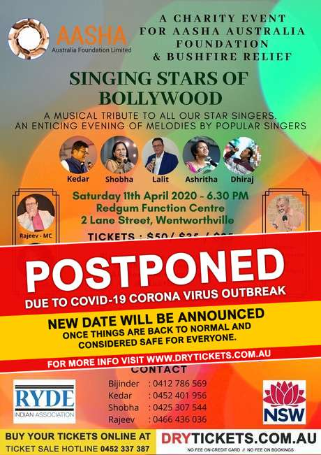 Singing Stars of Bollywood In Sydney
