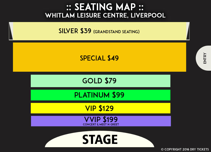 Himesh Reshammiya Live In Sydney 2016 Seating Map