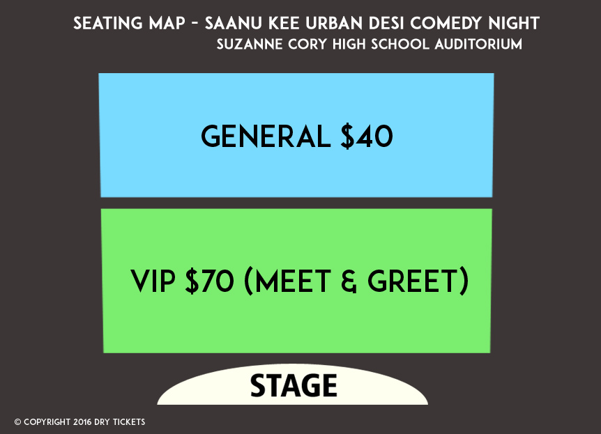 Saanu Kee Urban Desi Comedy Night Seating Map