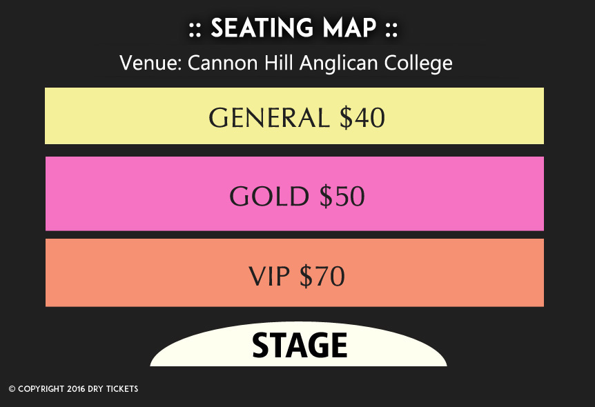 Yaar Anmulle - Live in Brisbane 2016 Seating Map
