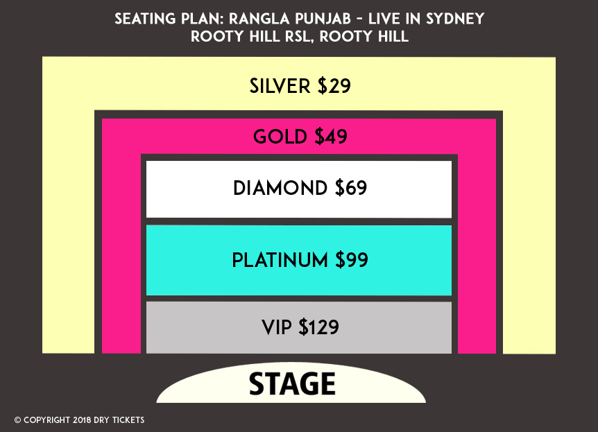 Rangla Punjab Live in Sydney Concert 2018 Seating Map