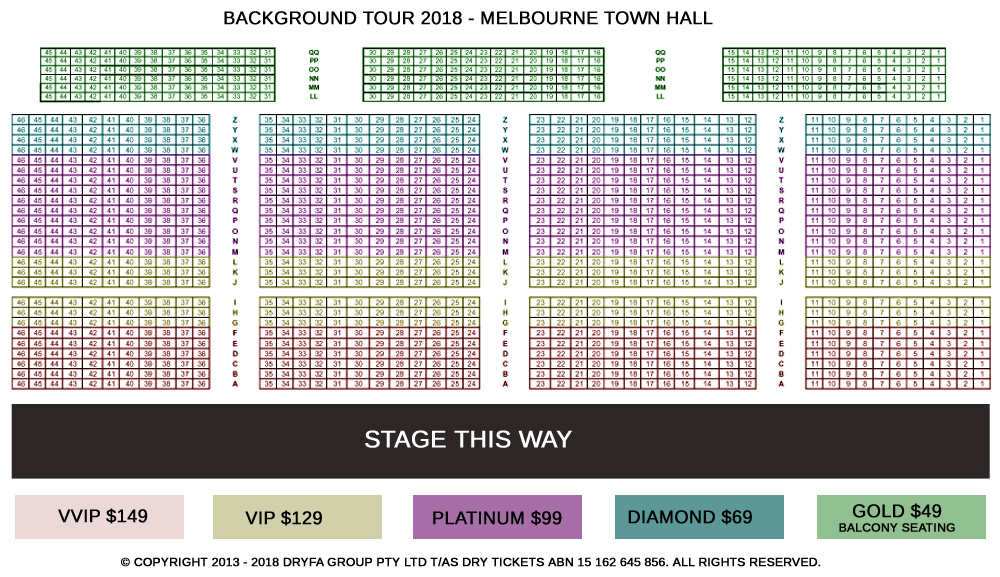 Background Tour By Ammy Virk & Mannat Noor In Melbourne Seating Map
