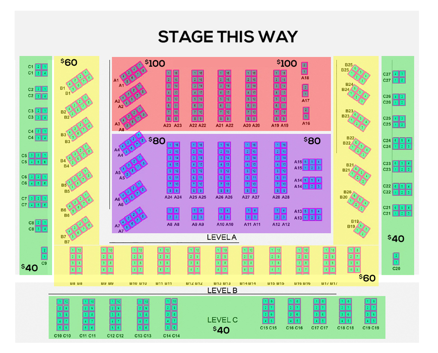 'Rendezvous with JAZIM' Ghazal Night Seating Map