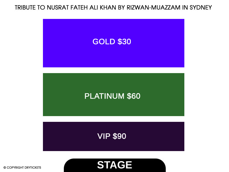 Tribute to Nusrat Fateh Ali Khan by Rizwan-Muazzam In Sydney Seating Map