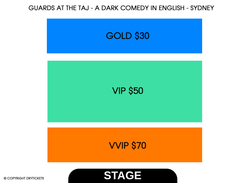 Guards At The Taj - A Dark Comedy In English - Sydney (Sunday) Seating Map