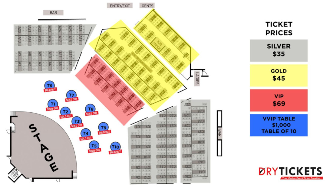 Bollywood's TOTAL DHAMAAL Live In Concert Sydney Seating Map