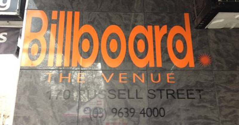 Billboard The Venue in Melbourne