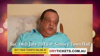 Living Legend Jayachandran - Mega Musical Night 2015 at Sydney Town Hall - Invitation For Sydney Fans